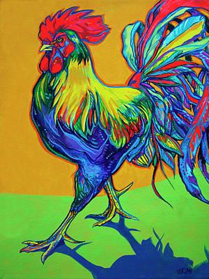 Bantam Painting - Rooster Strut by Derrick Higgins