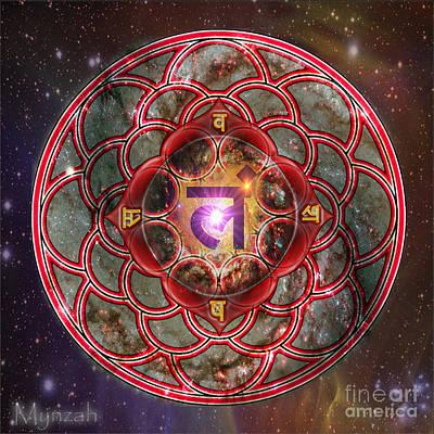 Muladhara Digital Art - Root Chakra Muladhara  by Mynzah Osiris