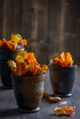 Turnips Photograph - Root Vegetable Crisps by Amanda And Christopher Elwell