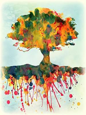Tree Roots Digital Art - Roots by Lilia D
