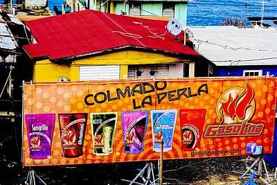 Roots Of La Perla At Old San Juan Print by Sandra Pena de Ortiz