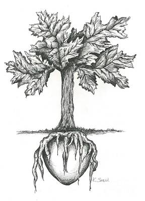 Roots Of The Heart Print by Karen Sirard