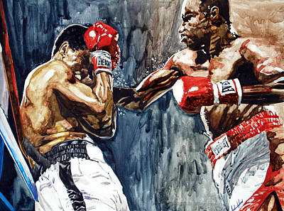 Jab Painting - Rope A Dope by Andre Ajibade