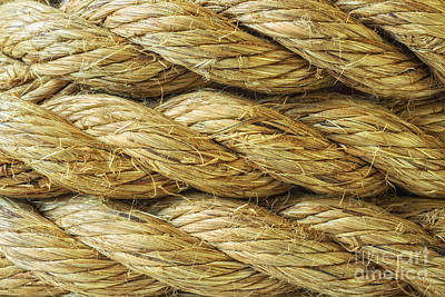 Sisal Photograph - Rope Background Texture by Amanda Elwell