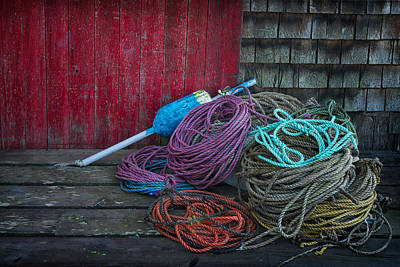 Ropes And Buoy Print by Darylann Leonard Photography