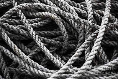 Mess Photograph - Ropes by Svetlana Sewell