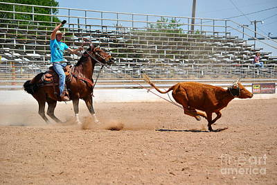 Roping Practice Print by Paul Wesson