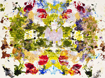 Psychological Painting - Rorschach Test by Darice Machel McGuire