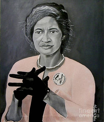 Civil Rights Painting - Rosa Parks by Chelle Brantley