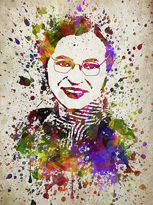 Rosa Parks In Color Print by Aged Pixel