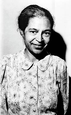 Us Civil Rights Photograph - Rosa Parks by Library Of Congress