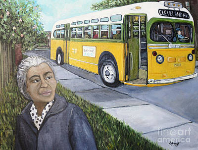 Civil Rights Painting - Rosa Parks by Reb Frost