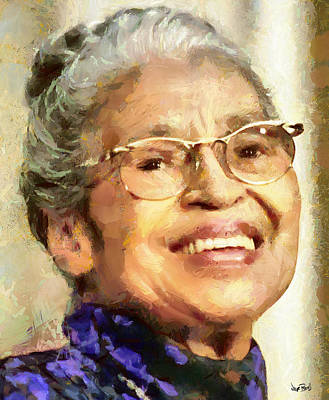 Civil Rights Painting - Rosa Parks by Wayne Pascall