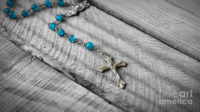 Wood Necklace Photograph - Rosary by Aged Pixel