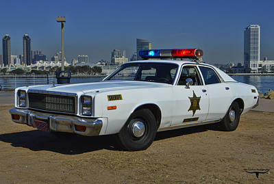 Roscoe's Squad Car Print by Tommy Anderson
