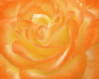 Rose Print by Ben and Raisa Gertsberg