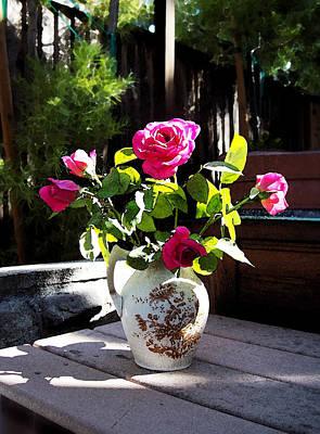 Rose Bouquet Print by Irina Sztukowski
