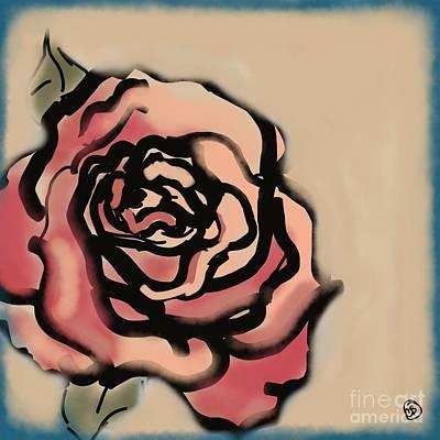 Rose Print by Carrie Joy Byrnes