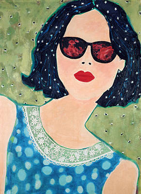 Mixed Media - Rose Coloured Glasses I by Diane Fine