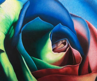 Multi Colored Painting - Rose Hybrid by Michael Wicksted