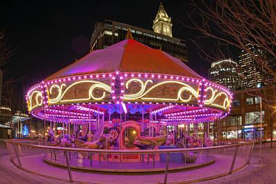 Massachusetts Photograph - Rose Kennedy Greenway Carousel - Boston by Joann Vitali