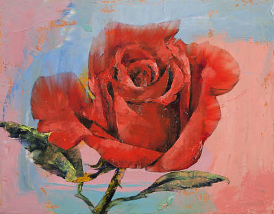 Rose Painting Original by Michael Creese