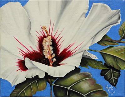 Rose Of Sharon Painting - Rose Of Sharon by Karen Beasley