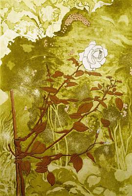 Rose Print by Valerie Daniel