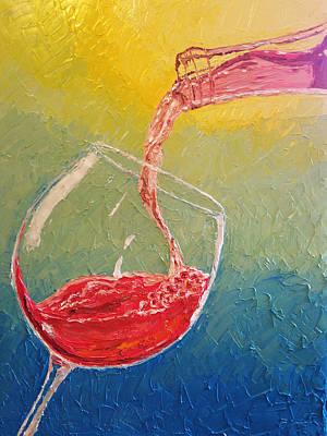 Rose Wine Being Poured Original by Eryn Tehan