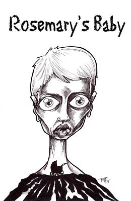 Drawing - Rosemary's Baby by Big Mike Roate