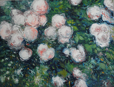 Painting - Roses At Diemersfontein Cape Town South Africa by Enver Larney
