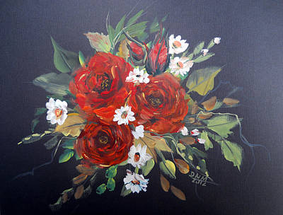 Roses Print by Dorothy Maier