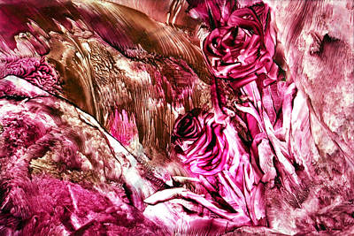Hot Wax Painting - Roses Forever by Anne-Marie Coadebez