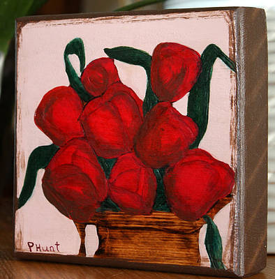 Roses In Pitcher Pyrography Original by Penny Hunt