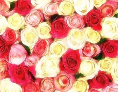 Roses Of Love Print by Georgiana Romanovna