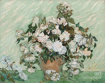 In Bloom Painting - Roses by Vincent Van Gogh
