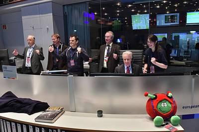 Separation Photograph - Rosetta Mission Control Team by Esa/j. Mai