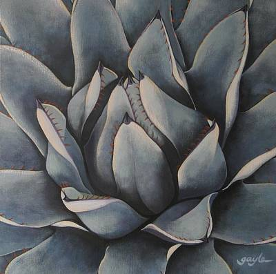 Aloe Painting - Rosette by Gayle Wisbon