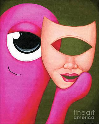 Rosie Behind The Mask Original by Cori Pitcher