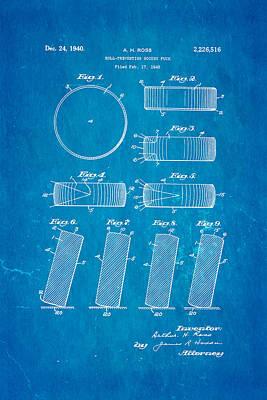 Hockey Games Photograph - Ross Ice Hockey Puck Patent Art 1940 Blueprint by Ian Monk