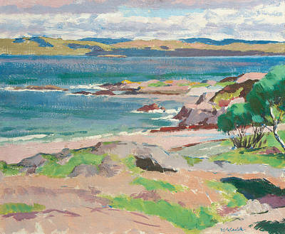 Scottish Colourist Painting - Ross Of Mull From Traigh Mhor by Francis Campbell Boileau Cadell