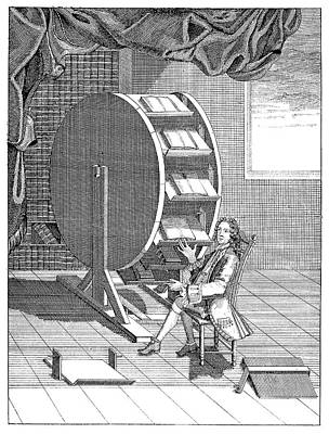 Rotary Reading Wheel Print by Science Photo Library