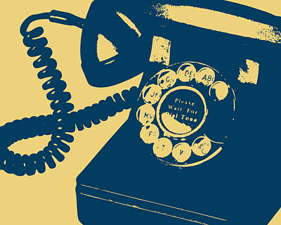 Conversing Digital Art - Rotary Telephone by Flo Karp