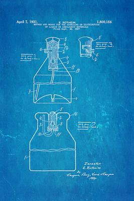 Rotheim Aerosol Patent Art 1931 Blueprint Print by Ian Monk
