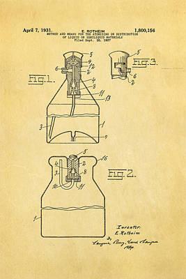 Rotheim Aerosol Patent Art 1931 Print by Ian Monk