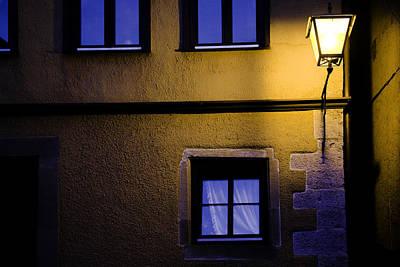Rothenburg By Night Print by Joanna Madloch