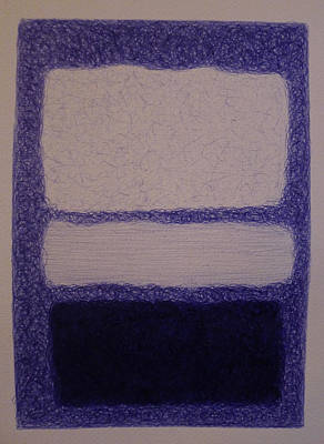 Rothko In Ballpoint Blue No 16 1961 Print by Ben Johansen