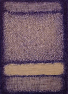 Rothko In Ballpoint Blue No 7 1960 Print by Ben Johansen