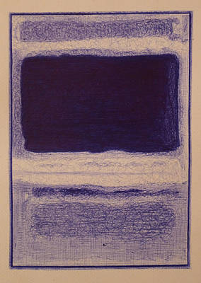 Rothko In Ballpoint Blue No3 No13 1949 Print by Ben Johansen