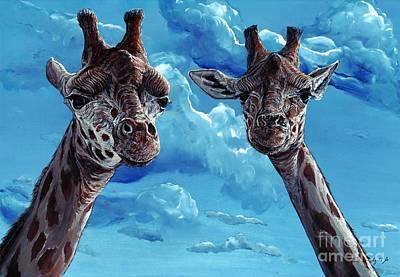 Giraffe Painting - Rothschild Giraffe by Tom Blodgett Jr